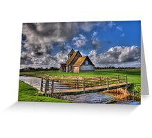 The Church in the Marsh - St Thomas a Becket,Fairfield Greeting Card