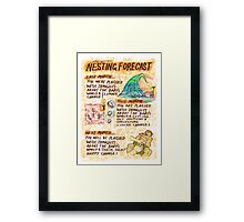 Pregnancy: Nesting Forecast Framed Print