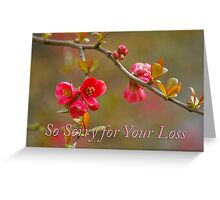 quince condolences Greeting Card