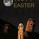 Easter Island The Scream World Tour Happy Easter by Eric Kempson