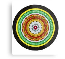 Marmite Circle Metal Print