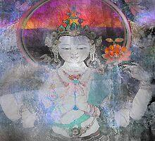 Rose ~ Love ~ White Tara by linaji-cards