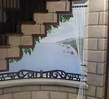 under stair mural by artistkelly