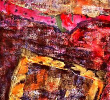 Abstract Expression Textile Art by Richard  Tuvey