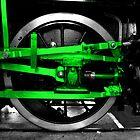 Wheel & green steel by Rob Hawkins