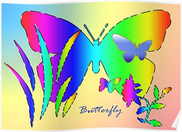 Rainbow Butterfly by saleire