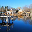 Essex Ship Yard - Essex, Massachusetts by Steve Borichevsky