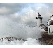 Roller hits Eastern Point - Gloucester, Massachusetts Photographic Print