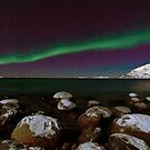 Aurora Borealis at the arctic shore II by Frank Olsen