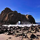 Pfeiffer Beach Rock Formation, Pfeiffer Big Sur State Park by Richard  Leon