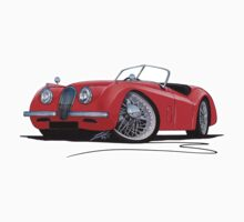 Jaguar XK120 Roadster Red by Richard Yeomans