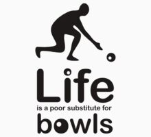 Bowls v Life - Black Graphic by Ron Marton