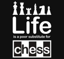 Chess v Life - White Graphic by Ron Marton