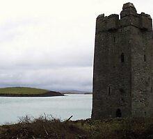 Granuaile's Castle, Achill Island by reddogcards