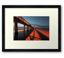 shadows of the morning Framed Print