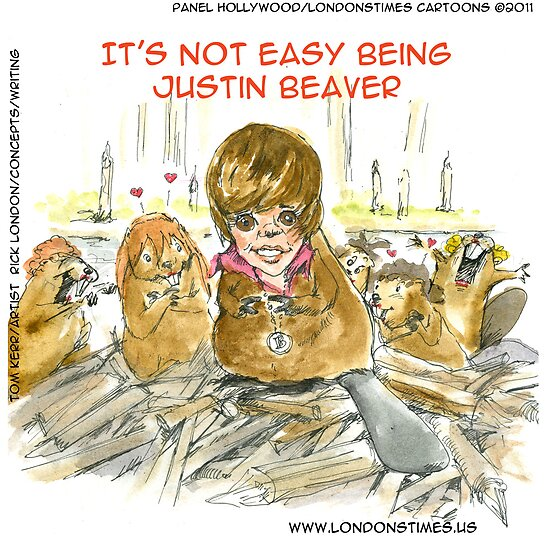 It's Not Easy Being Justin Beaver by Londons Times Cartoons by Rick  London