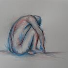 Alone - watercolour by Justine Ward