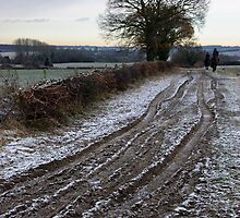 Riding Out on a winter day in Suffolk by Christopher Cullen