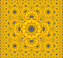 Golden Button Squash Escher Tessellation by Hugh Fathers