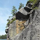 Cliff Face- Long Lake by Tracy Faught