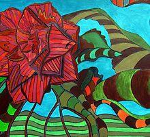 252 - CAMELIA DESIGN - DAVE EDWARDS - ACRYLIC - 2009 by BLYTHART