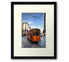 Tram in Milan Framed Print