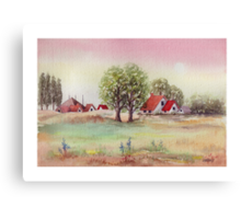 SUMMER MORNING - AQUAREL Canvas Print