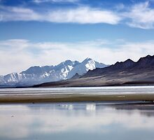 Winter on the Great Salt Lake Antelope Island Utah by Bellavista2