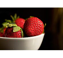 Strawberry Bowl in Morning Light Photographic Print