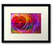 Love gives you wings Framed Print