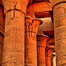 Egypt. Temple of Kom Ombo. Colonnade. by vadim19