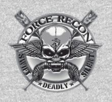 Marine Force Recon Skull ( 3d T-Shirt ) by Walter Colvin
