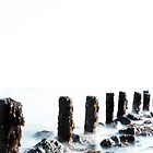 Tide, pillars in the Sea, St. Ives, Cornwall by mudd-photo