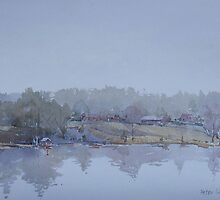 In the mist a clearing by Peter Lusby Taylor