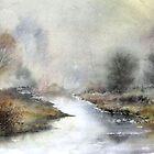 Misty Chalk Stream  by Neil Jones