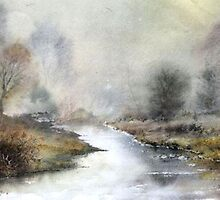 Misty Chalk Stream  by Neil Jones