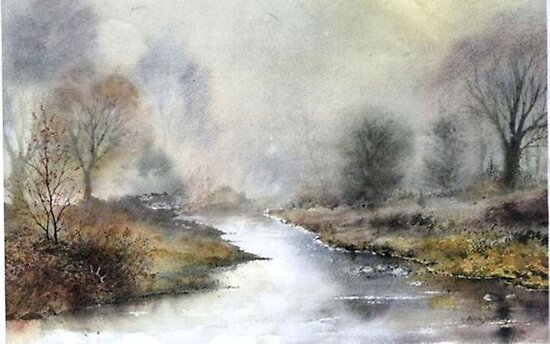 Misty Chalk Stream  by neilone
