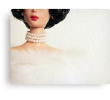 Pearls - Vintage Barbie Canvas Print
