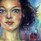 Watercolor Woman portrait Svetlana Novikova by Svetlana  Novikova