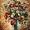 MAGIC FLOWERS - original oil painting on canvas by Leonid Afremov by Leonid  Afremov