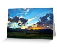Sunset on the Rez (Montana, USA) Greeting Card