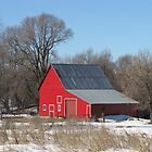 The Bright Red Barn by lorilee
