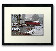 Snowy Muncy Creek Crossing Framed Print