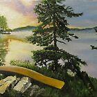 Algonquin Park Sunrise, Ontario, Canada by P. Leslie Aldridge
