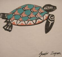 Northwest Native Influence of sea turtle by Jennifer Ingram
