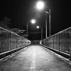 Down to Somewhere - Footbridge at night by vanyahaheights