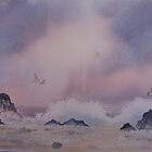 Rough seas and Terns by Neil Jones