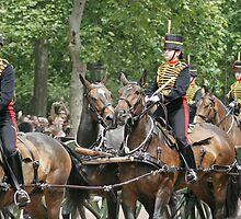 Household Cavalry at Trooping of The Colour by Keith Larby