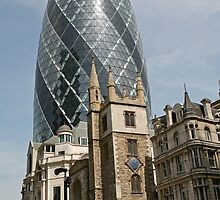 The Gherkin in London by Keith Larby