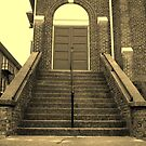Ex-Church Steps and Entrance by Glenn Cecero